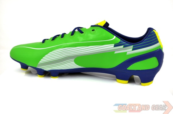 puma evospeed rainbow green instep